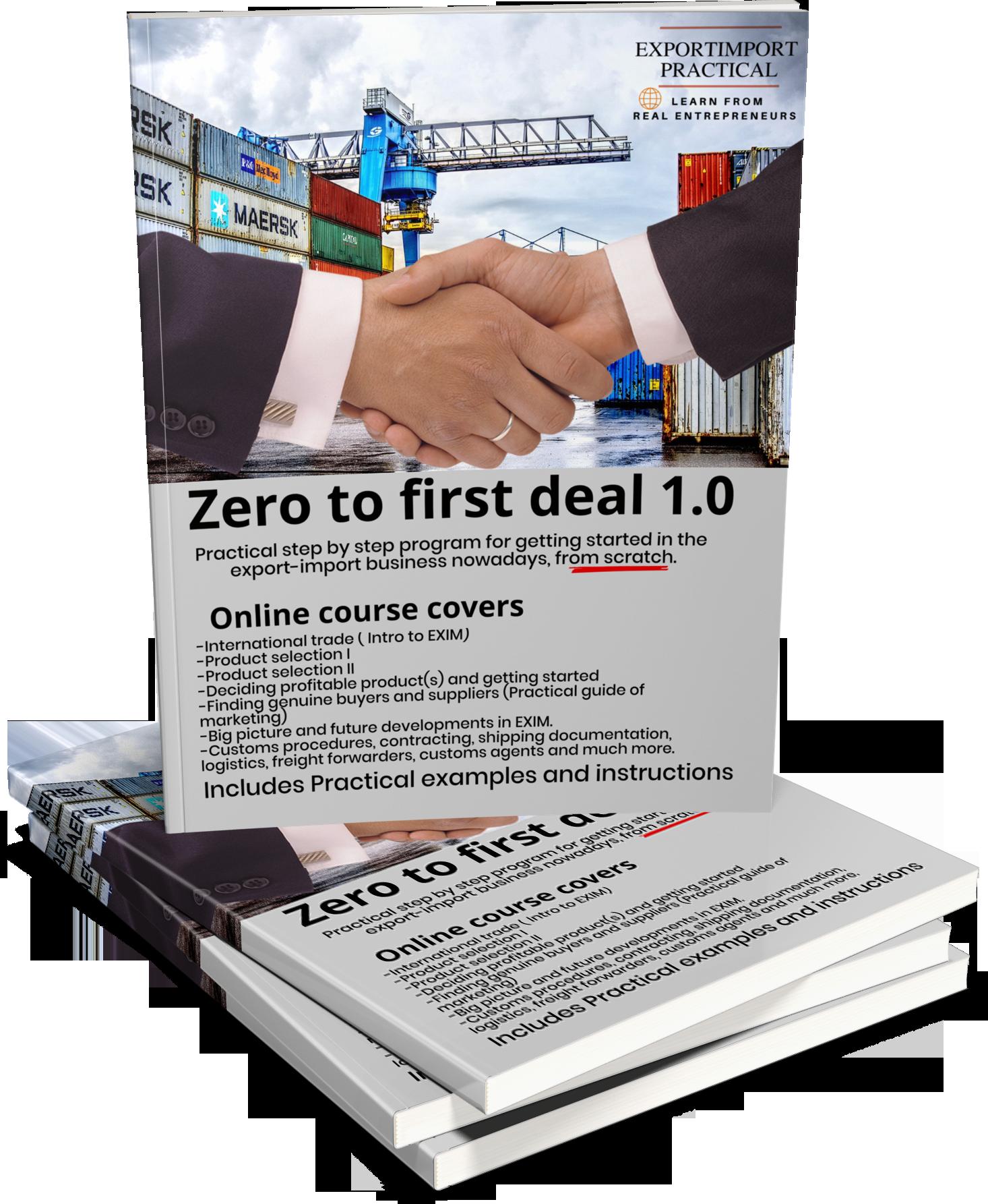 Zero to first deal export import business course-regular   online